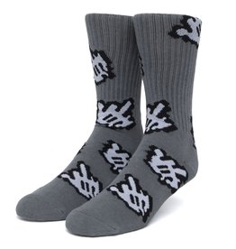 HUF Fuck It Cursor Sock Charcoal