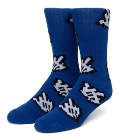 HUF Fuck It Cursor Sock Blue