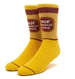 HUF Brown Bag Sock Yellow