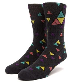 HUF TT Pattern Sock Charcoal