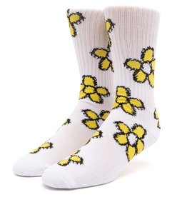 HUF Pushing Daisies TT Socks White
