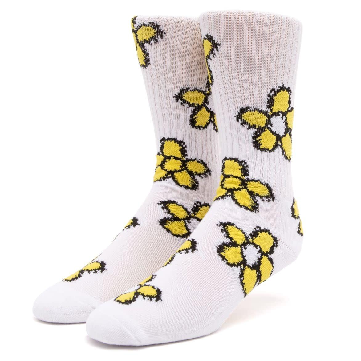 HUF Pushing Daisies TT Socks White