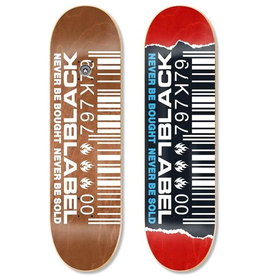 Black Label Barcode Ripped 8.25