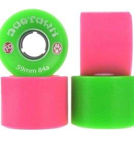 Dogtown K-9 Cruiser 84a 59mm Mix Neon Green/Pink