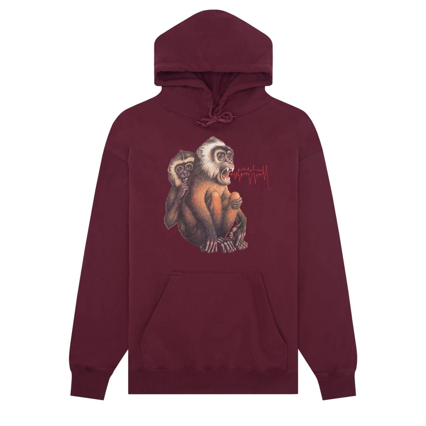 Fucking Awesome Monkey Radar Hoodie Maroon M