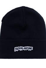 Fucking Awesome Little Stamp Cuff Beanie Black