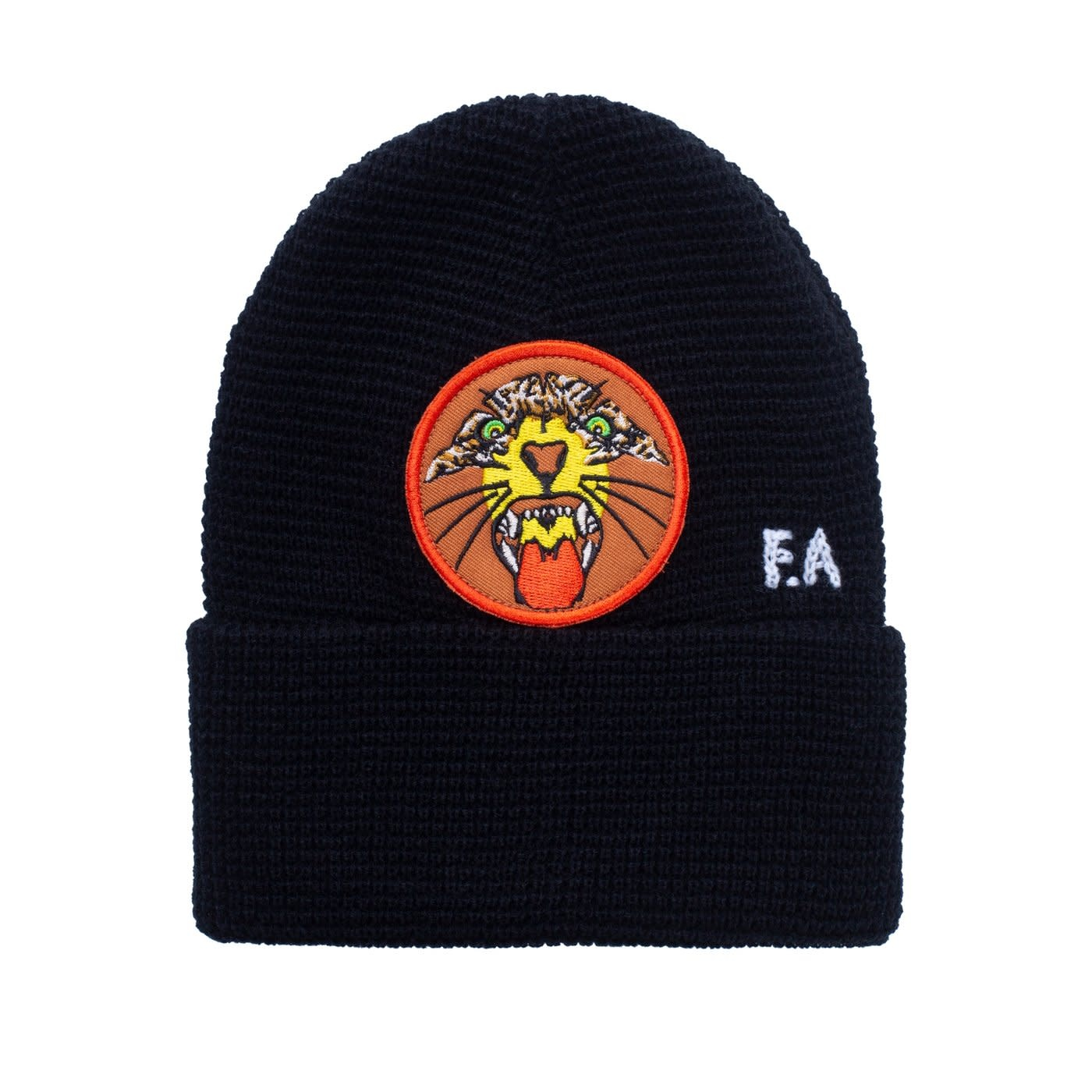 Fucking Awesome Tiger Cuff Beanie Black