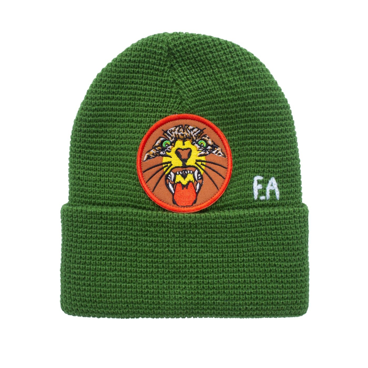 Fucking Awesome Tiger Cuff Beanie Forest