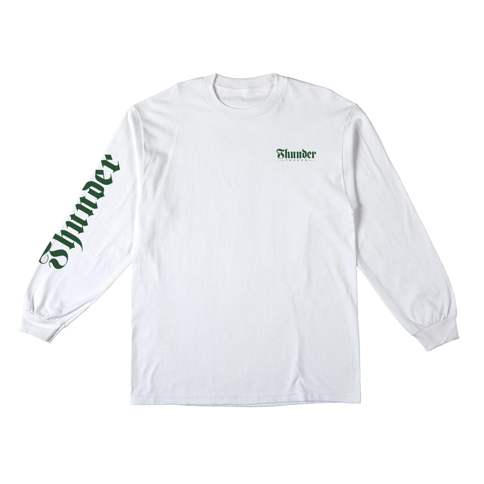 Thunder Trucks Script Sleeve L/S White/Green