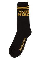 Anti Hero Blackhero If Found Sock Black/Yellow