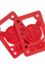 "Pig Wheels Pig Riser Pad 1/8"" Red"