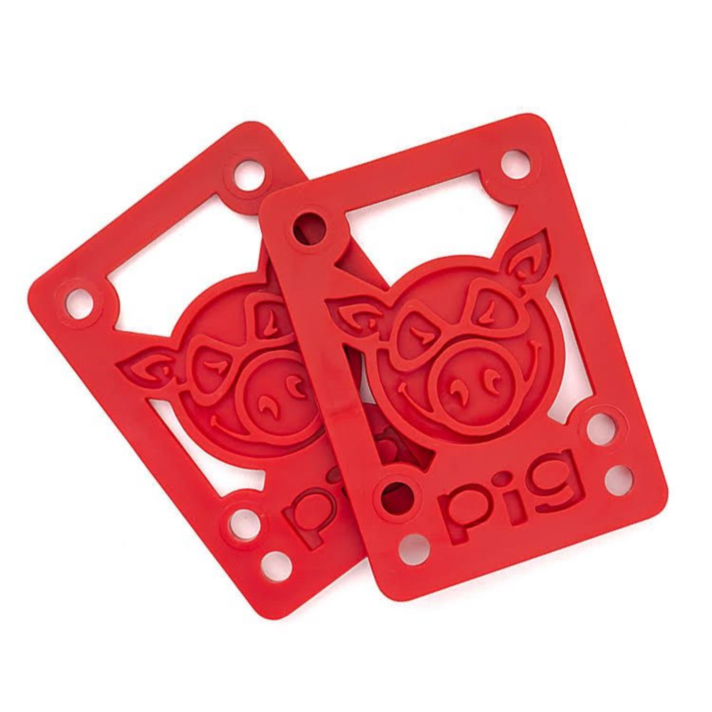 "Pig Wheels Pig Riser Pad 1/8"" Red"