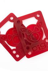"Pig Wheels Pig Soft Riser Pad 1/8"" Red"
