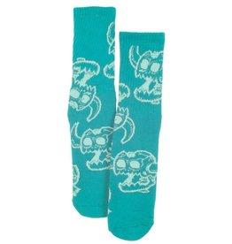 Toy Machine Monster Skull Aqua Sock