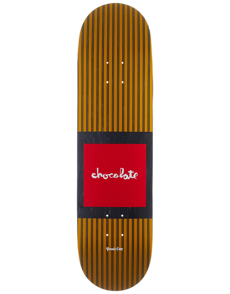 "Chocolate Skateboards Cruz Pop Secret 8.18"" Yellow"