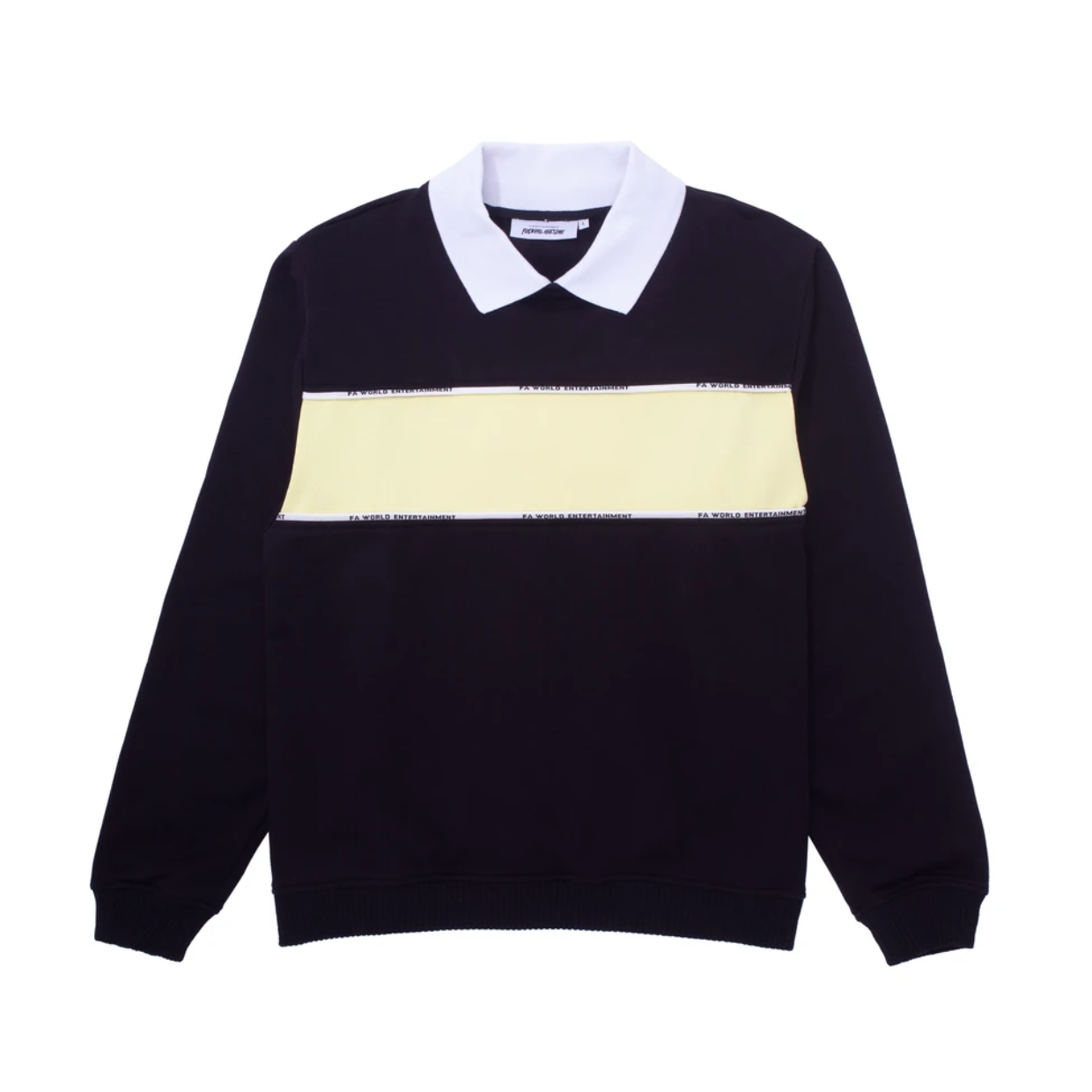 Fucking Awesome Contra Flow Collared Sweatshirt Black