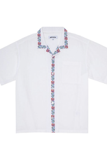 Fucking Awesome Tetris Flowers Linen Shirt White