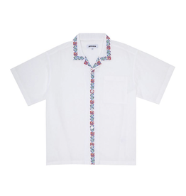 Fucking Awesome Tetris Flowers Linen Shirt White