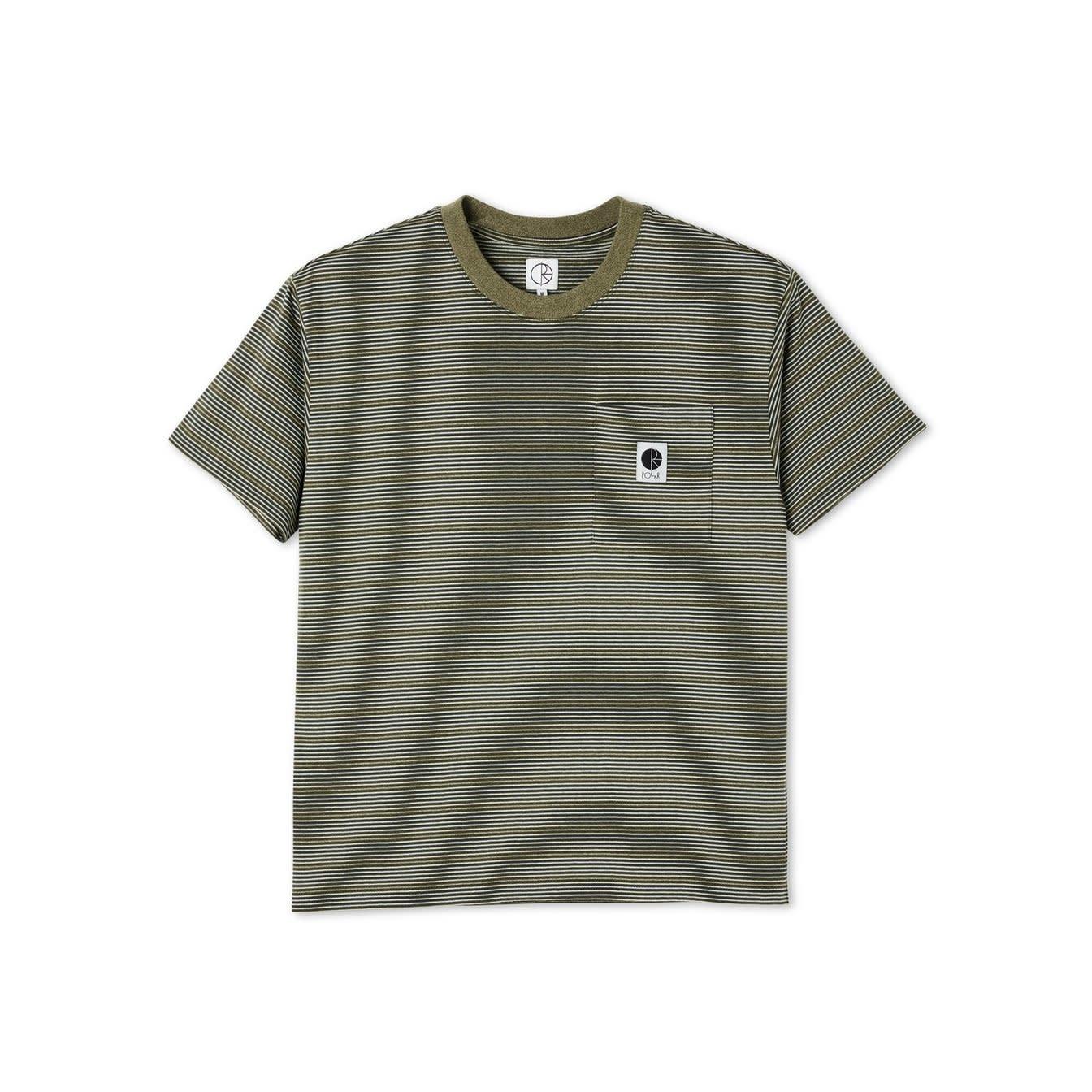 Polar Skate Co. Stripe Pocket Tee Army Green