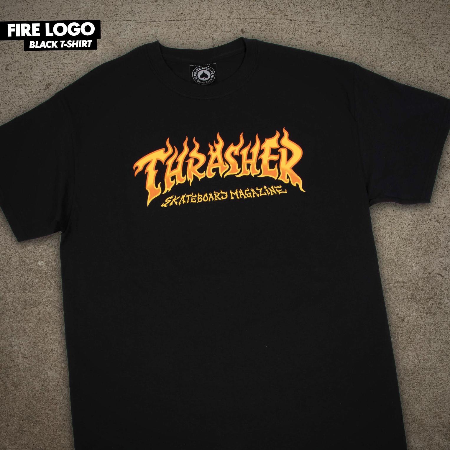 Thrasher Mag. Fire Logo Black
