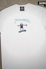 Thrasher Mag. Gonz Logo White/Blue
