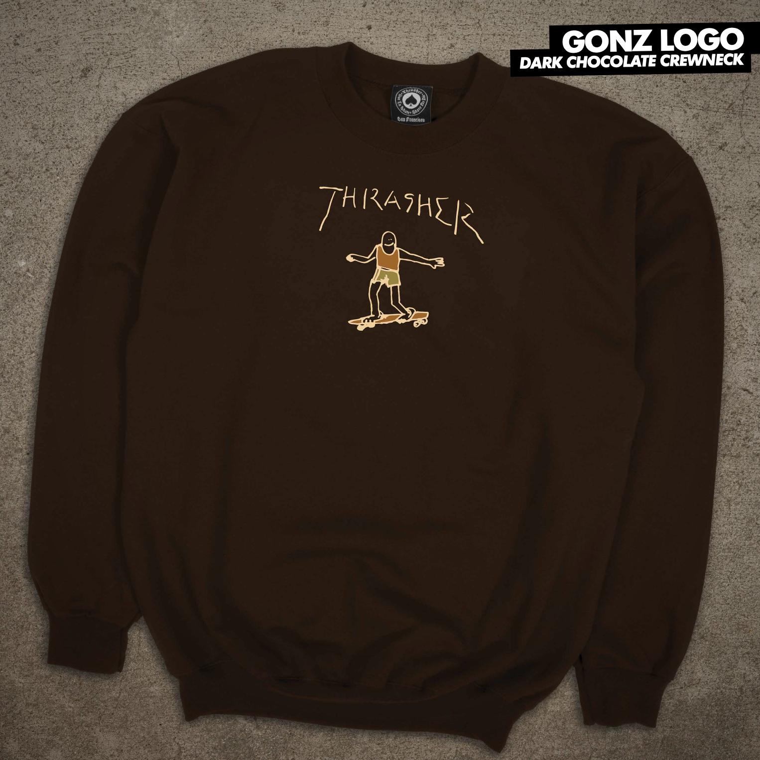 Thrasher Mag. Gonz Logo Hood Dark Chocolate