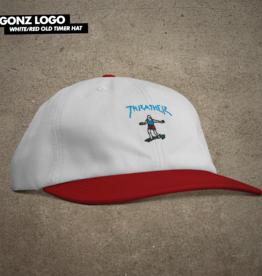 Thrasher Mag. Gonz Old Timer Hat White/Red