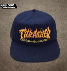 Thrasher Mag. Fire Logo Snapback Navy