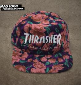 Thrasher Mag. Mag Logo Snapback Pink Floral