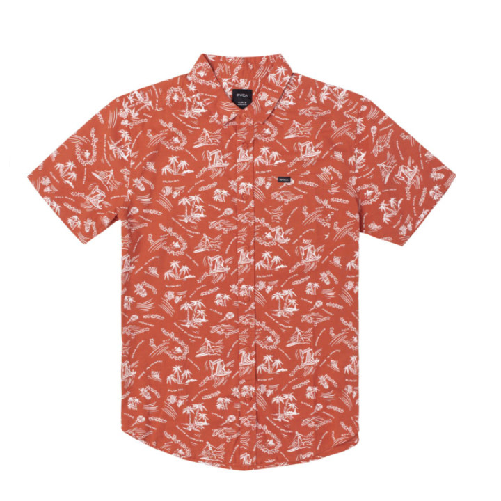 RVCA Tropical Disaster Youth S/S Rust