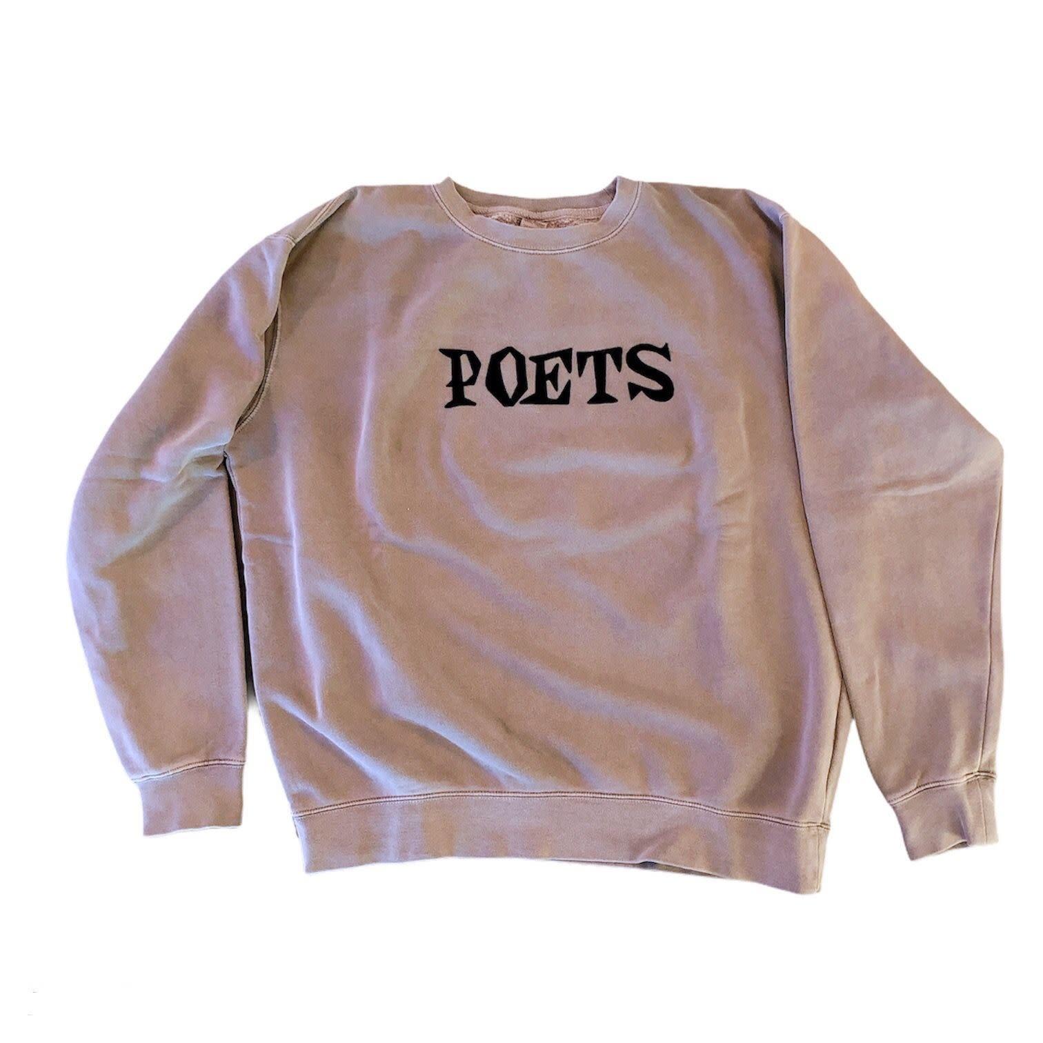 Poets Velvet Crew Neck Fleece Stone L