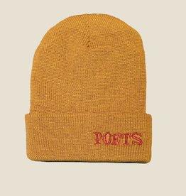 Poets Clokey Knit Beanie Mustard