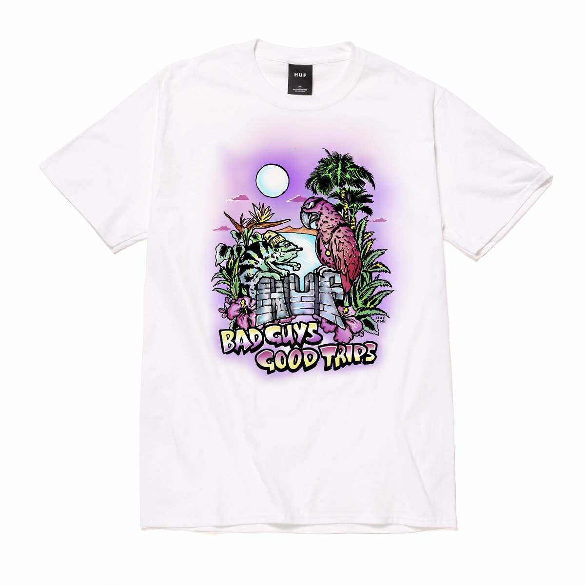 HUF Vacation UV Color Tee White