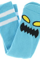 Toy Machine Monster Face Sock Sky Blue
