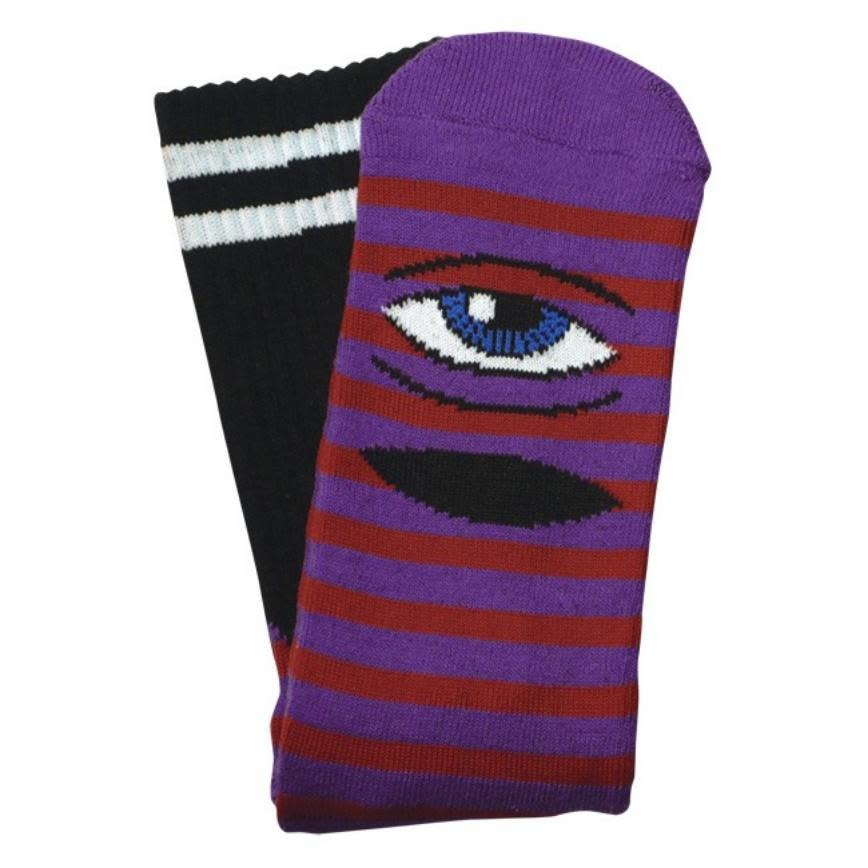 Toy Machine Sect Eye Stripe Purple/Orange Sock