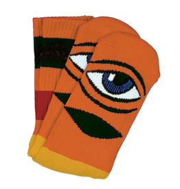 Toy Machine Sect Eye Big Stripe Orange Sock