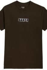 Baker Skateboards Brand Logo Dark Chocolate Tee