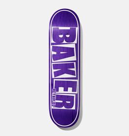 "Baker Skateboards AR Brand Name Purple Veneer 8.125"""