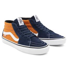 Vans Shoes Skate Grosso Mid Navy/Orange