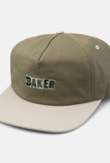 Baker Skateboards Brand Logo Green/Tan Snapback