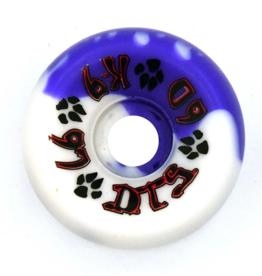 Dogtown K-9 80's 97a Purple/White Swirl 60mm
