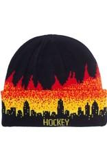Hockey Lights Out Beanie Black/Fire