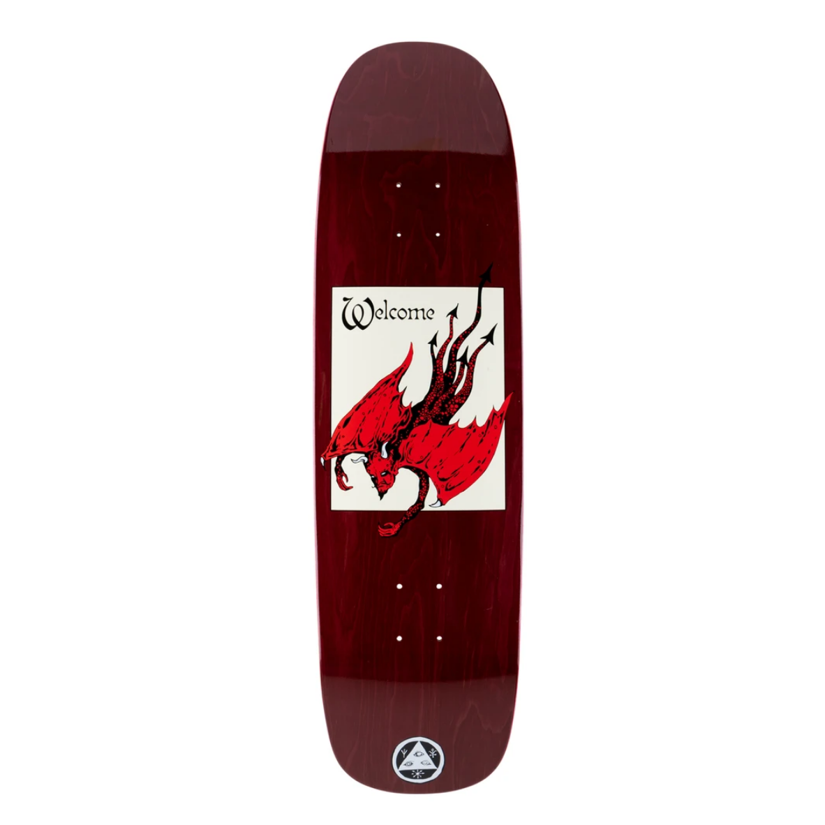 """Welcome Skateboards Unholy Diver on Son of Golem 8.75"""" Dark Red"""
