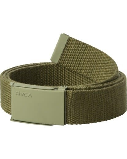 RVCA Option Web Belt Olive