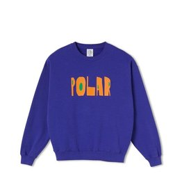 Polar Skate Co. Cut Logo Crewneck Purple