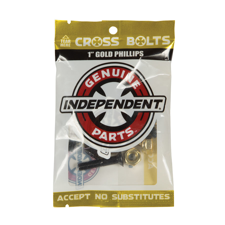 """Independent Truck Co. Indy Cross Phillips 1"""" Black/Gold"""