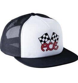 Ace Skateboard Truck MFG. Flags Trucker Black/White Hat