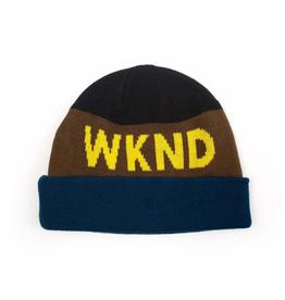 WKND Collision Jade/Brown Beanie