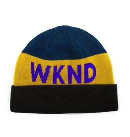 WKND Collision Black/Yellow Beanie