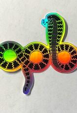 """APB Skateshop APB Snake Em All Holographic Sticker 2.6"""""""